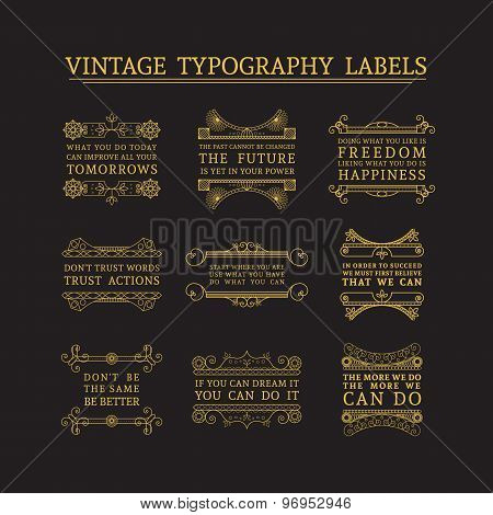 Vector headline calligraphic decorations set