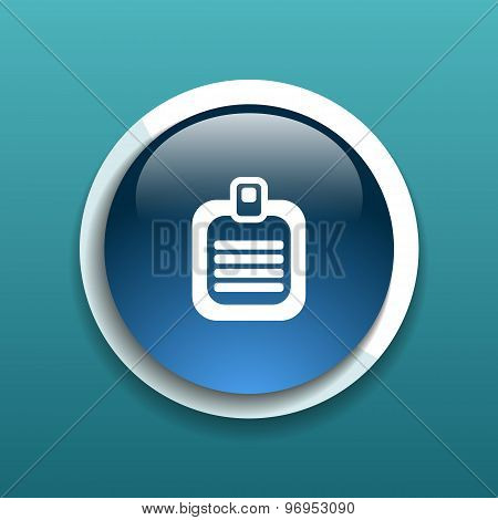 Check list vector icon Flat design list icon isolated document