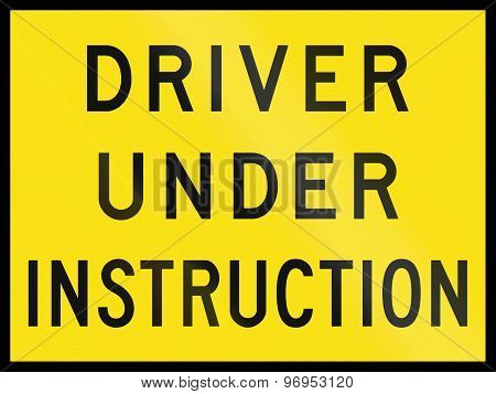 Driver Under Instruction In Australia