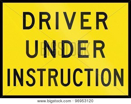 Driver Under Instruction In Australia