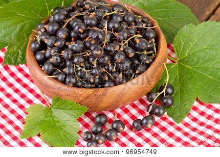 Currant Berries on Red Checkered Tablecloth