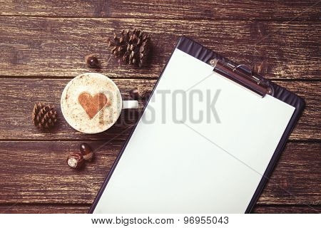 Cup Of Coffee And Tablet