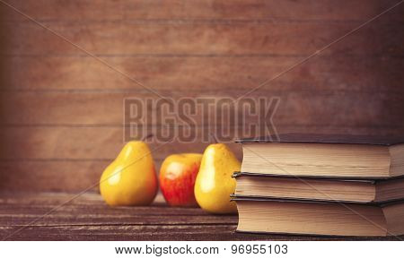 Apple And Pear Near Books