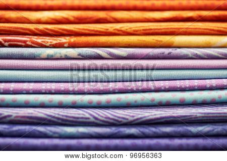Heap Of Colorful Fabric