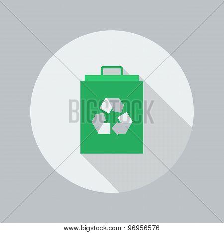 Eco Flat Icon. Eco Bag
