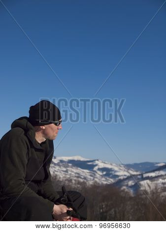 The Man Resting In The Mountains.