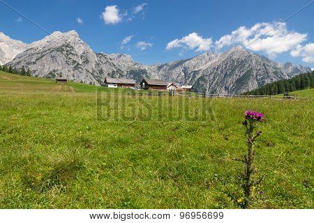 Mountain landscape in the Alps near Walderalm Austria Tirol