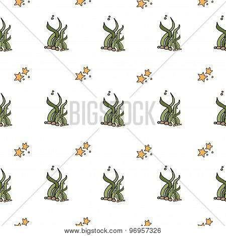 Seamless Abstract Pattern Nautical And Marine Background. Sea Collection.