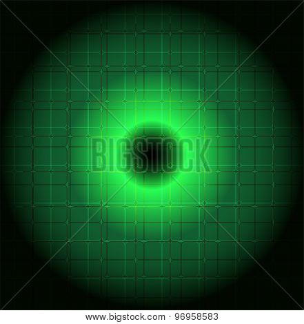 Vector round style abstract green background
