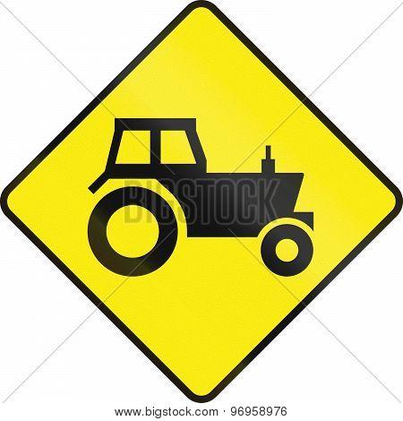 Tractor Crossing In Ireland