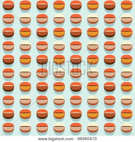Coffee Seamless Pattern. Stylized Coffee Beans Motif Abstract Background