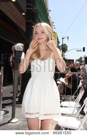 LOS ANGELES - JUL 24:  Dove Cameron at the Kristin Chenoweth Hollywood Walk of Fame Star Ceremony at the Hollywood Blvd on July 24, 2015 in Los Angeles, CA