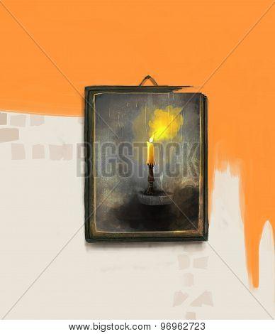 candlelight frame illustration