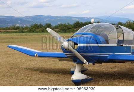 Thiene, Vicenza - Italy. 26Th July, 2015: Light Aircraft For The Transportation Of Passengers In A S