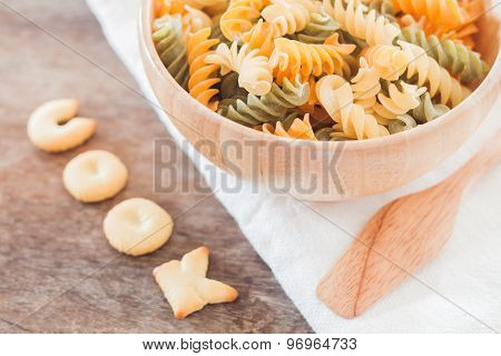 Cook Alphabet Biscuit With Fusili Pasta