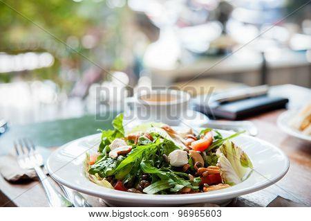 salad prepared on plate