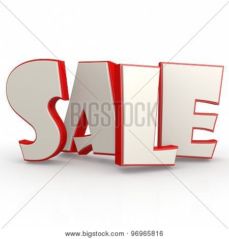 Sale Word With White Background