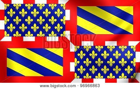 Ancient Flag Of Burgundy, France.