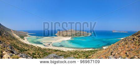 Balos beach panorama