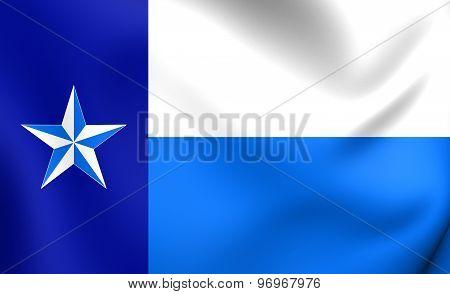 Flag Of Dallas County, Texas.