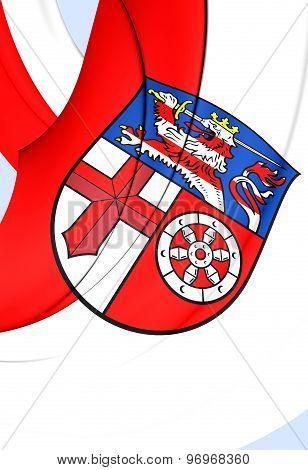 Flag Of Heppenheim City, Germany.