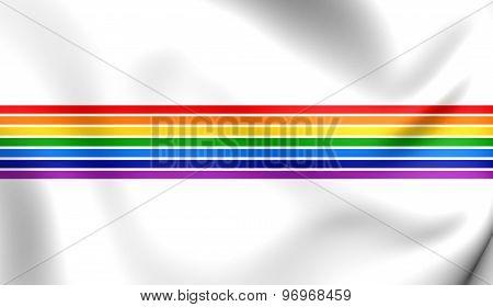 Flag Of Jewish Autonomous Oblast, Russia.