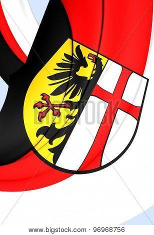 Flag Of Memmingen City, Germany.