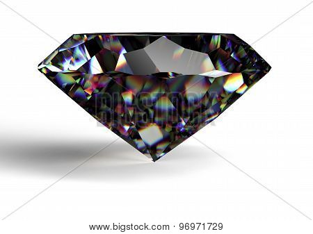 Black Diamond Isolated On White Background With Clipping Path