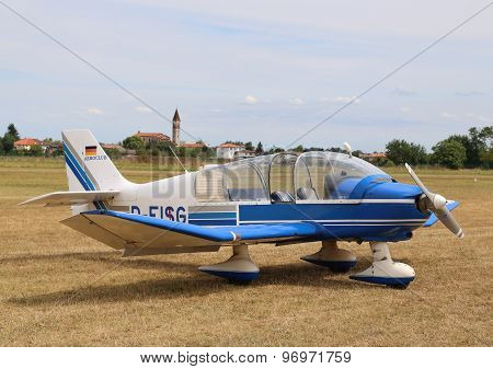 Thiene, Vicenza - Italy. 26Th July, 2015:light Aircraft In The Small Airport