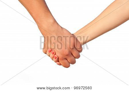 Two people's hands
