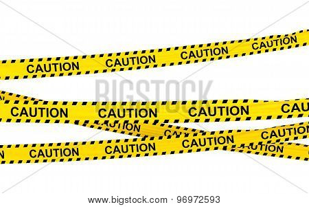 3d caution ribbons