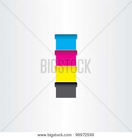 Offset Printing Color Cans Icon