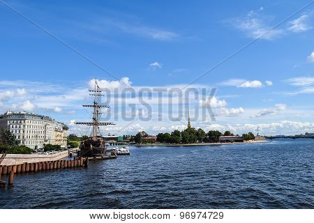 The Neva river, Peter and Paul fortress.