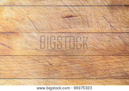 Wooden cutting board with horizontal lines background