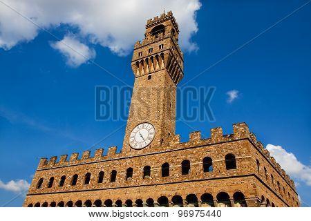The Old Palace (palazzo Vecchio Or Palazzo Della Signoria), Florence (italy).