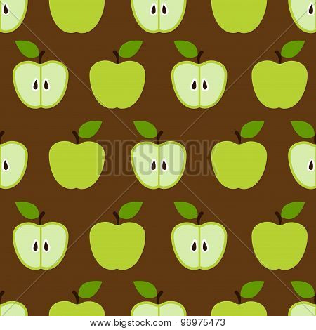 colorful seamless retro apple pattern in vector