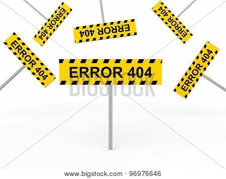3d error 404 signs