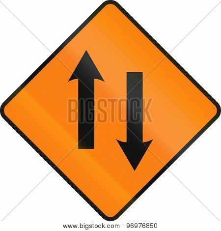 Two Lane Area Ahead In Ireland