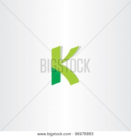 Letter K Green Logo Element