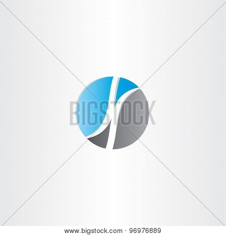 Letter K In Circle Logo Design Vector