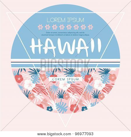 Hawaii country club. Vector print