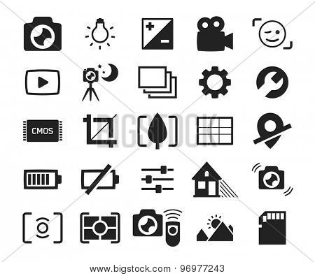 Camera menu interface icons set 2