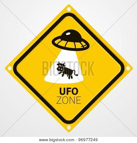 UFO zone warning sign