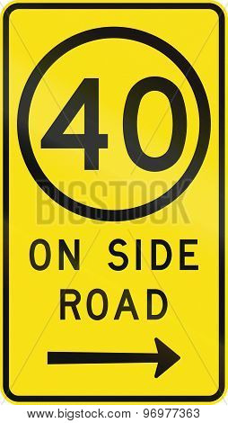 Speed Limit On Side Road