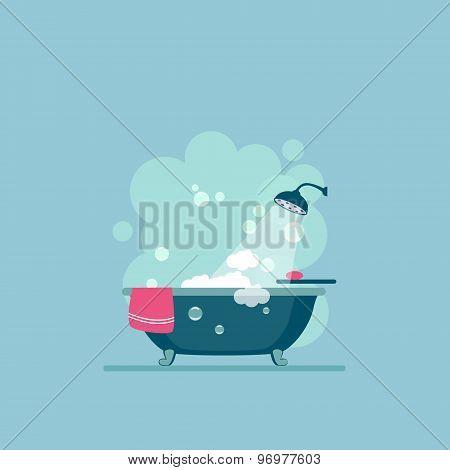 Bathroom cover Modern trendy design. Vector