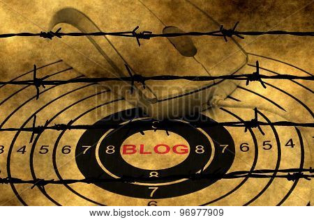 Blog Target Concept Against Barbwire