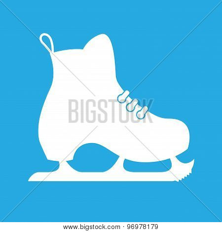 Vector illustration of classic ice skates on a blue background