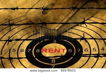 Rent Target Concept Against Barbwire