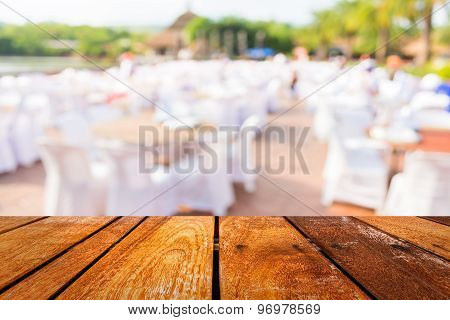 Tables And Decoration Prepared For An Outdoor Party