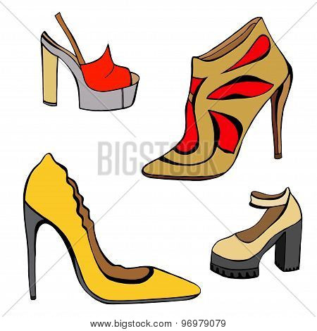 Woman Shoes Set